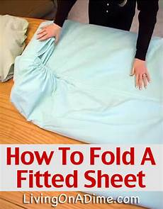 how to fold a fitted sheet easy video demonstration