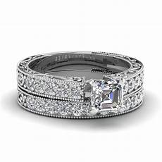 looking for wedding rings vintage looking asscher diamond wedding ring in 14k white gold fascinating diamonds