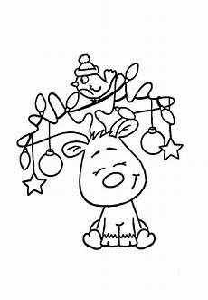 Malvorlagen Winter Weihnachten Lernen Weihnachts Elch Weihnachtsmalvorlagen Weihnachten