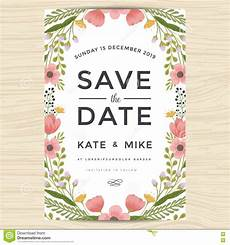 invitation card template vintage save the date wedding invitation card template with
