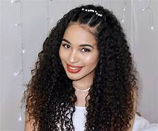 easy curly prom hairstyle great for naturally curly hair in 2019 curly prom hair curly hair