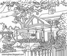 detailed landscape coloring pages for adults part 6