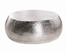 table basse aluminium martele