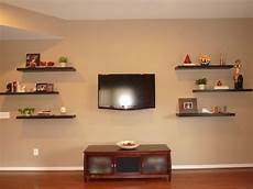unique wooden floating wall shelves home design and