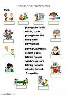 time worksheets activity 2908 free time activities with interactive worksheet