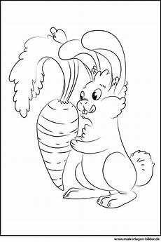 Osterhase Malvorlagen Gratis Einfach Hase Mit Einer Karotte Gratis Ausmalbild
