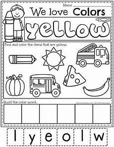 color yellow worksheets for preschool 12892 all about colors theme preschool color worksheets for preschool preschool color activities