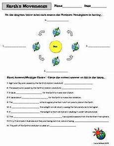 motions of the earth worksheets 14443 space astronomy earth s movements seasons by carrie whitlock