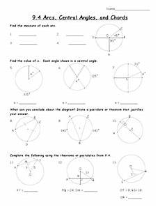 arcs and chords worksheet answers arcs central angles and chords worksheet for 10th grade lesson planet