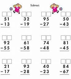 worksheets in subtraction with regrouping 10124 printable math and measurements worksheets math subtraction second grade math homeschool math
