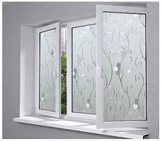 Plastic Flower Pattern Glass Frosted Opaque Glass