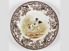 Spode WOODLAND Flat Coated Pointer Dinner Plate 5763543   eBay