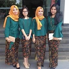 Model Kebaya Modern Terbaru Rok Batik Panjang