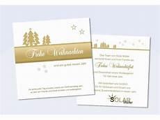 firmen weihnachtskarte quot tannenzauber quot in gold