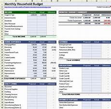 household budget worksheet for excel