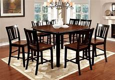 9 piece dover counter height dining in black cherry