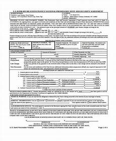 promissory note and security agreement form free 6 promissory note agreement forms in pdf ms word