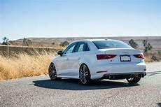 Glacier White Metallic Audi S3 Suspension Upgrades