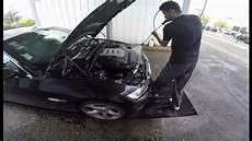 entretien voiture diesel laver moteur au karcher bmw 330d e92