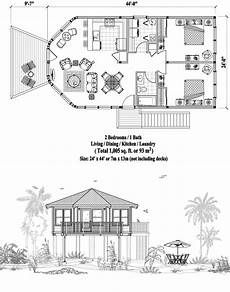 house on stilts floor plans online house plan 2 bedrooms 1 baths 1005 sq ft