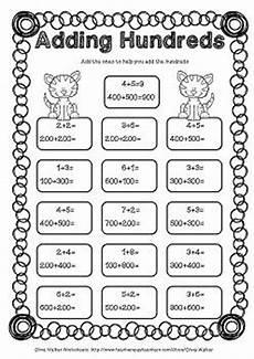 adding hundreds worksheets hundreds addition worksheets printables the o jays math and