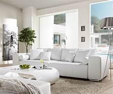sofa weiss big sofa marbeya 290x110cm weiss mit schlaffunktion m 246 bel