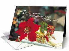merry christmas business setting thank you with poinsenttia card merry christmas merry