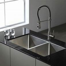 kraus 33 inch undermount 50 50 double bowl 16 stainless steel kitchen sink ebay