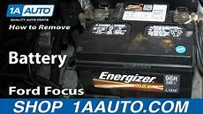 how to remove install replace dead battery ford focus