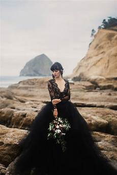 30 of the most stunning black wedding dresses chic vintage brides