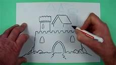 ritterburg schnell gezeichnet zeichnen f 252 r kinder