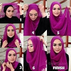 Tutorial Jilbab Segi Empat Untuk Wajah Bulat Simple Cantik