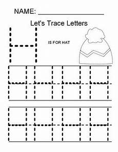 tracing letter h worksheets 23121 tracing the letter h by math simple for all tpt