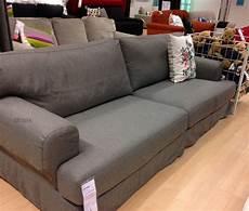 ikea slipcovers ikea hov 197 s hovas sofa slipcover cover hjulsbro gray grey