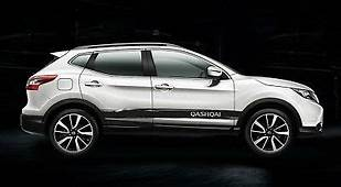NISSAN QASHQAI PAINT Tear Effect Side Stripes Decals