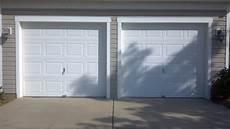 2 garage doors vs two single garage doors before a plus garage doors