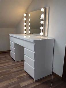modern white high gloss dressing table with images