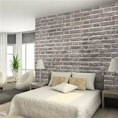 Backstein Tapete Schlafzimmer - faux brick wall new house