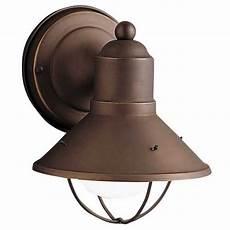 kichler nautical outdoor wall light in bronze finish