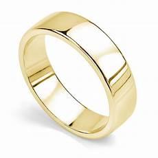 slight court wedding ring with polished edge