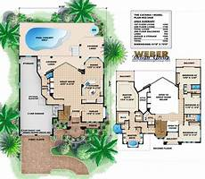mediterranean house plans with pools mediterranean house plan 2 story luxury home floor plan