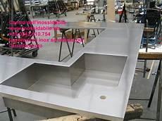 lavelli inox su misura piano cucina angolare sagomato vasca inox su misura photo