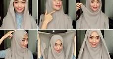7 Contoh Cara Memakai Jilbab Segi Empat Terbaru 2017