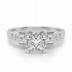 engagement rings multi stone cinderella staircase