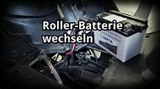 batterie wechseln motor roller