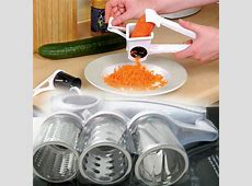 Rotary Cheese Grater Stainless Steel 3 Drums Blades Slicer