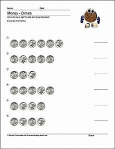 money worksheets for learning disabilities 2219 math and money worksheets counting dimes