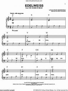 hammerstein edelweiss sheet music for piano solo pdf