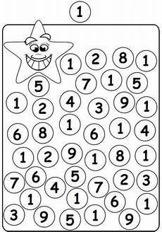 worksheets kindergarten 18335 alle cijfers quot 1 quot inkleuren kindergarten math worksheets preschool math numbers preschool