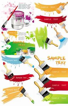 paint brush and color vector download free vector psd
